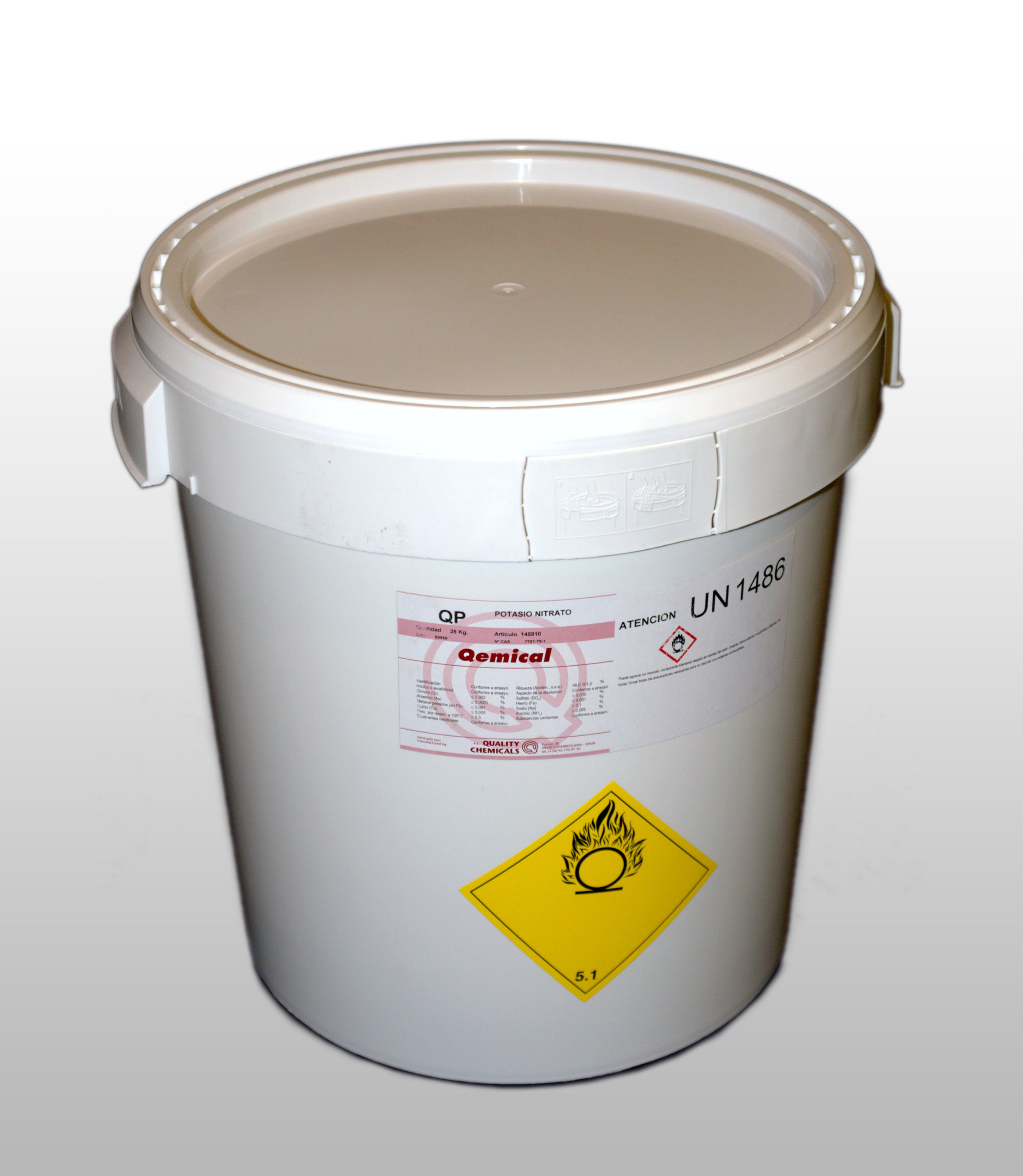 PLASTIC DRUM 30 L (FOR SOLIDS), 2 internal bags, closed to vaccum