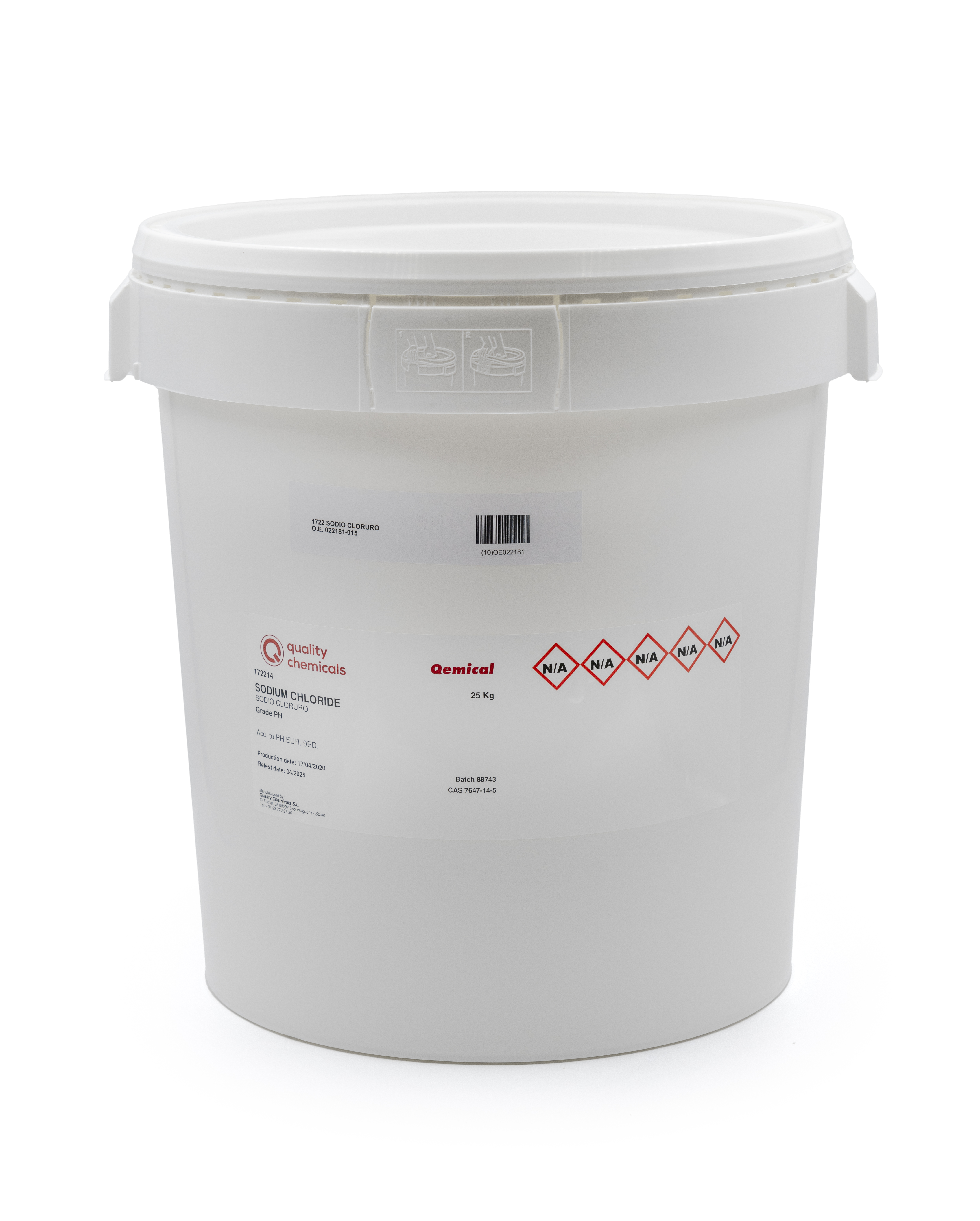 PLASTIC DRUM 30L (FOR SOLIDS), 2 internal bags with desiccant