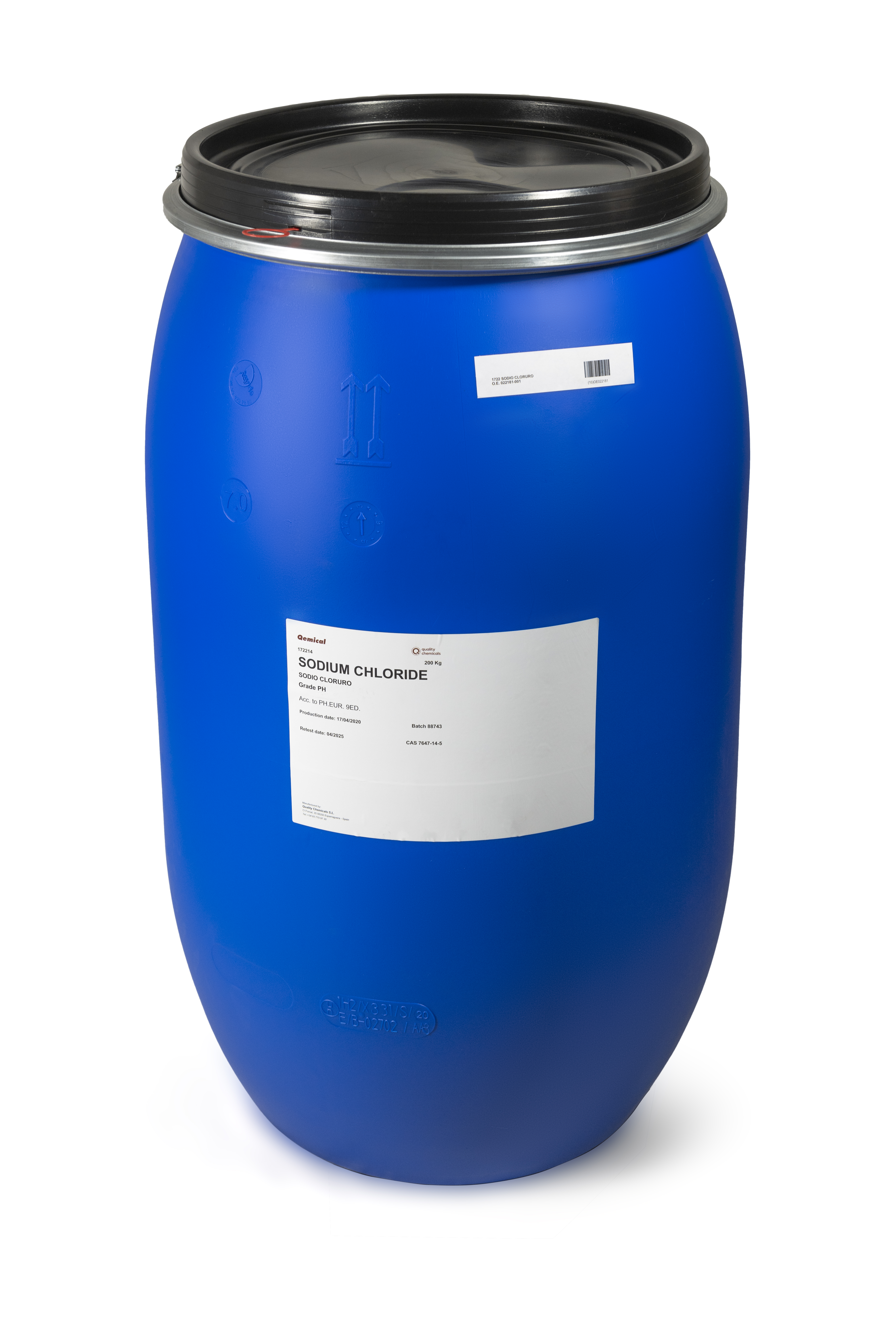 OPEN TOP PLASTIC DRUM 220 L (FOR SOLIDS)